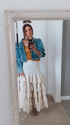Bump friendly Fits sizes extra small to large Frill Tops, Boho Skirts, Bump, No Frills, Lace Skirt, Ivory, How To Wear, Closet, Jackets