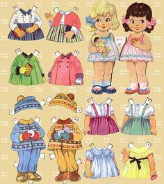 Mariquitas 😀 en los 60 y70 era divertido jugar a vestirlas y compartiamos las niñas Barbie Paper Dolls, Vintage Paper Dolls, Bjd Dolls, Doll Toys, Paper Toys, Paper Crafts, Origami Paper Art, Paper Dolls Printable, Doll Quilt