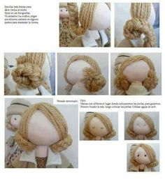 How to give a rag doll hair text is in russian but the pictures are pretty good i can figure this out – ArtofitThe content for you if you like fabric dolls fabricdolls – Artofit Doll Wigs, Doll Hair, Doll Crafts, Diy Doll, Clothespin Dolls, Sewing Dolls, Doll Tutorial, Fairy Dolls, Soft Dolls