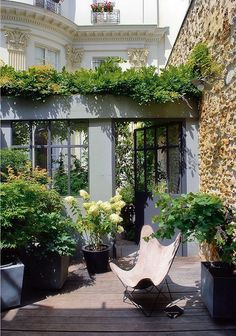 urban garden with classic architecture | Laurel Home