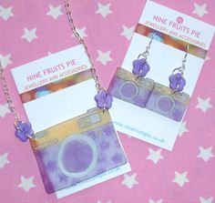 Say Cheese  Spring garden style purple yellow and by NiNEFRUiTSPiE, £7.50