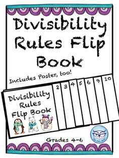 Year 4 - Year 6: Students can fill in the divisibility rules as they learn them. They can keep these in their notebooks for reference.
