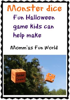 Fun dice game for learning numbers and getting the kids to be active. You can change the words so it's  not geared towards Halloween.