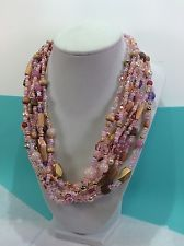 Joan Rivers 9-Strand Bead Torsade with Reversible Medallion, 18 Inch - CC-20-A*