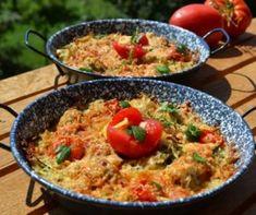 Szezámmagos háromszög III. Recept képpel - Mindmegette.hu - Receptek Penne, Paella, Grains, Rice, Chicken, Meat, Ethnic Recipes, Food, Recipes