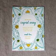 Elegant Letterpress Birth Announcements | POPSUGAR Moms Photo 2