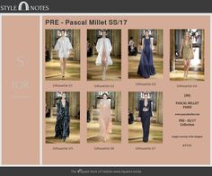 [SN] Stylenote  Pascal Millet Paris Precollection SS 17 Spring/Summer 17