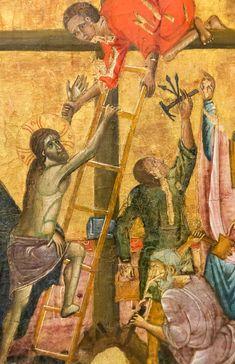 Guido da Siena: Croce Ascensione di Cristo, Dettaglio [A 1270-1280, Museo Catharijneconvent Utrecht]