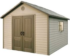 Lifetime 6433 11-by-11-Foot Outdoor Storage Shed with Windows