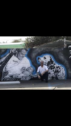 Admiring the Bradley Nowell Mural in Long Beach, California! Bradley Sublime, Bradley Nowell, Long Beach, Rock N Roll, Snoopy, California, Friends, World, Dogs