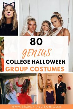 Here's some of the hottest College Halloween costume ideas that you want to wear at parties. Whether you want to dress up with your best friend or your boyfriend your costume is definitely going to impress.#halloween #halloweencostumeideas #collegehalloween Creative College Halloween Costumes, College Costumes, Popular Halloween Costumes, Couple Halloween Costumes, Bestfriends, Costume Ideas, Boyfriend, Parties, Dress