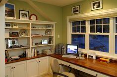 書斎,ワークスペース,窓,上げ下げ窓,複数,雰囲気,カウンター