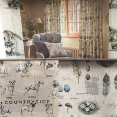 New collection with animal prints #Fabric #Curtains #Roman #Blinds
