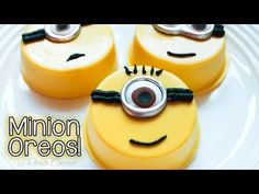 How to Make Minion Oreos video- BUT, you  Could use bottle caps to make a minion Swap- use yellow bottle caps or spray paint them yellow.