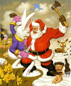 Clash of Holidays by Todd Schorr
