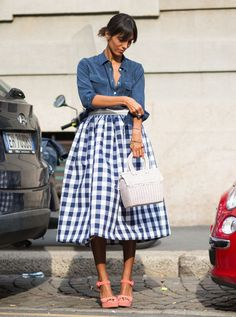gingham gorgeousness. Paris.