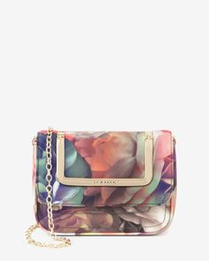 Technicolour Bloom clutch bag - Black | Bags | Ted Baker