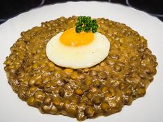 Czech Recipes, Ethnic Recipes, Good Food, Yummy Food, Lentils, Risotto, Beans, Food And Drink, Veggies