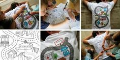 Homemade Fathers Day Gifts from Kids-love the shirt and 6-pack ideas! Could make both of these!