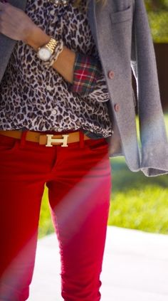 Animal and red combo ♥✤ | Keep the Glamour | BeStayBeautiful