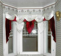 how to make swags and tails dolls house curtains Doll House Curtains, Bay Window Curtains, Curtains With Blinds, Valance Curtains, Miniature Rooms, Miniature Furniture, Miniature Fairy Gardens, Dollhouse Furniture, Dollhouse Windows