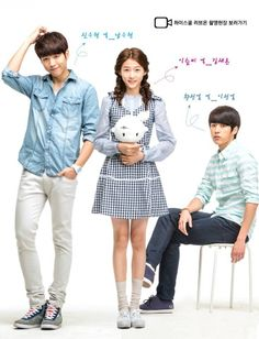 High School - Love On (2014) Lee Seul Bi (Kim Sae Ron) is an angel who is sent to Earth to look after Shin Woo Hyun (Nam Woo Hyun), who lives with his grandmother and carries emotional scars from being abandoned by his parents. Despite his cold demeanor, Woo Hyun is popular in school because of his good looks and singing ability. When his best friend, Hwang Sung Yeol (Lee Sung Yeol), finds out a secret that ties