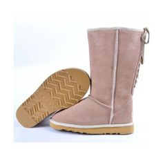 2014 Lovely Pink UGG Sienna Miller Lace Up Sand Boots