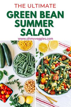 This easy green bean salad is perfect for summer get-togethers. Vegetarian Comfort Food, Vegetarian Cooking, Comfort Foods, Green Bean Salads, Green Beans, Meal Salads, Salad Recipes, Vegan Recipes, Unprocessed Food