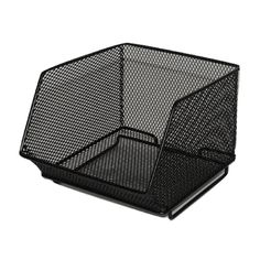 MTL MESH MD STACK BIN-BLK At Home