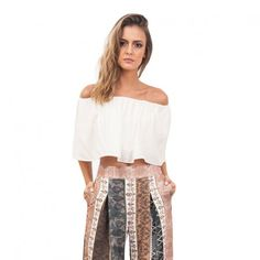 Cropped ombro a ombro #cropped #fashion