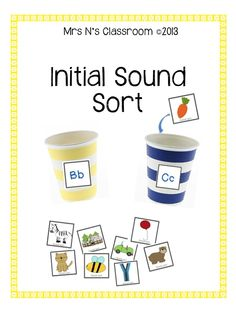Initial Sound Sort --- This is a simple activity to reinforce learning of initial sounds. Students are given cups and a few sets of pictures and they need to sort it into the cups based on the initial sound. This activity can easily be differentiated and can be used in small group intervention, reading groups or as a literacy center activity. Students can consolidate their learning after this activity by completing the recording sheets. There are 2 to choose from. Challenge students by…