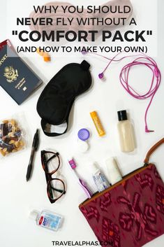If you want to survive a long flight, then you need to create your own travel comfort pack to put in your carry-on bag! This article will explain why you need a comfort pack, as well as how to create your own. | Travel tips | Packing tips | International
