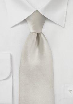 Hell Champagnerfarbene Krawatte in Satin-Optik