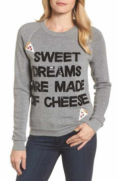 Bow & Drape Sweet Dreams are Made of Cheese Sweatshirt