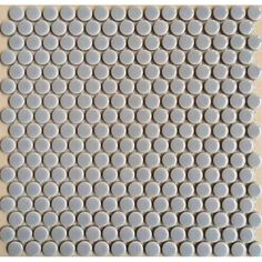 "Penny Round Tile White Porcelain Floor Tiles 3/5"" Ceramic Mosaic Backsplash"