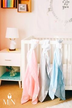The Dolly Llama Kids Dip Dyed Organic Swaddle is a stylish, unique swaddle blanket.