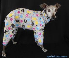 Italian Greyhound Cotton Interlock Knit Dog Jammies-medium 15. $32.50, via Etsy.