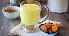 Golden milk is a combination of the yellow spice turmeric along with coconut milk or coconut oil, and may also be made with raw honey and spices. http://articles.mercola.com/sites/articles/archive/2015/09/21/golden-milk.aspx
