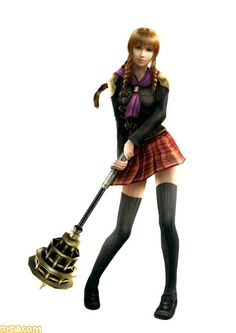 Final Fantasy Type 0 - Cinque and her honey comb wand. Final Fantasy Agito, Final Fantasy Chronicles, Final S, Final Fantasy Characters, Fantasy Series, Female Characters, Cosplay Characters, Anime Fantasy, Teal Eyes