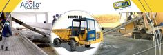 Carmix Dumper D6 - http://apollocarmix.com/products/carmix-dumper-d6/  LOADING CAPACITY: Struck: 1,021 gallons. Heaped: 1,362 gallons..  ENGINE: Diesel Perkins 1104 C-44 TA Turbo water-cooled, 4 cylinders. Maximum power 80 kW. (107 HP), set at 2300 r.p.m.  TRANSMISSION: Fully hydrostatic Bosch Rexroth with electric inverter. Gear box with mechanic control, two speeds. 4 wheel drive.  AXLES: Dana Spicer with oil bath disc brakes and planetary reducers. Front axle steering and swinging…