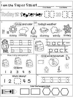 FREEBIE August Kindergarten Morning Work FREEBIE 10 Pages PLUS 2 differentiated sets. Great for BACK to SCHOOL! Kindergarten Morning Work, Kindergarten Homework, Bell Work, Back To School Activities, Bible Activities, Learning Activities, Kindergarten Worksheets, Differentiated Kindergarten, Alphabet Worksheets