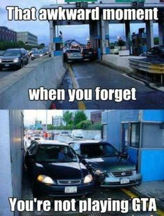 Meme - That awkward moment when you forget your not playing GTA - http://www.jokideo.com/