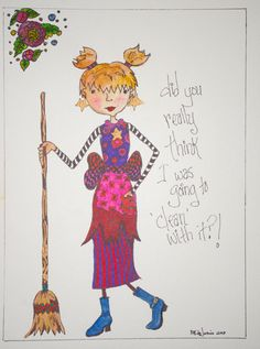 Which or witch by DoodleManiaArts on Etsy,