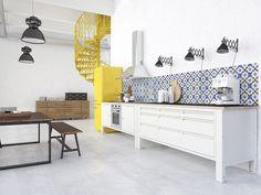 The Big Easy modulekeuken Interior Design Inspiration, Home Interior Design, Vintage Tile, Rustic Kitchen, Kitchen Living, Interiores Design, Cool Kitchens, Easy, Kitchen Design