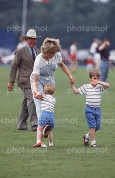June 28, 1987 - Princess Diana with Prince William and Prince Harry