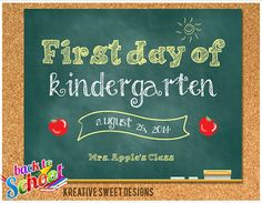 8x10 Digital File : First Day of School by KreativeSweetDesigns, $5.00