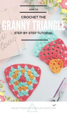 Step by step tutorial showing you how quick and easy it is to make the Granny Triangle - free crochet pattern
