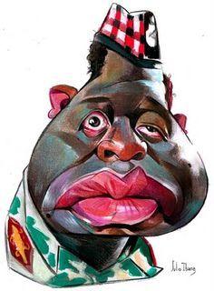 Forrest Whitaker as Idi Amin Dada by Julio Cesar Ibarra Warnes