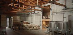 Shea Wine Cellars Interior Fermentation Room Architecture Oregon