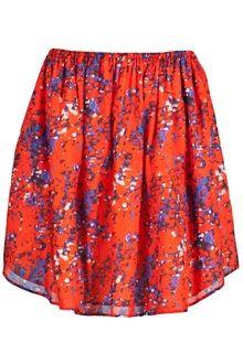 Oasis Full Maya Skirt in Red | Lyst